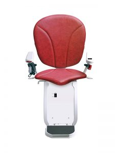 Platinum Curved Red - Sykes Stairlift