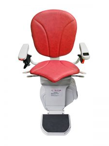 Platinum Simple and Straight Twin Lever Red - Sykes Stairlifts